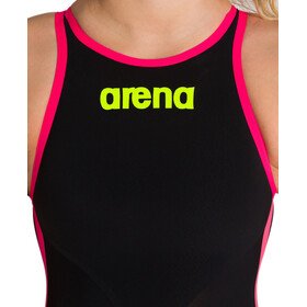 arena Powerskin R-Evo+ OW Badpak Dames, black/fluo yellow